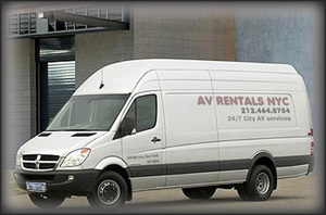 TV projector rental: AV Rentals NYC offers rental TVs delivery and professional TV installation.